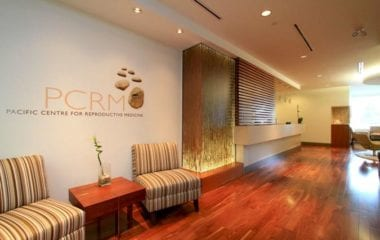 The Pacific Centre for Reproductive Medicine (PCRM) waiting room | PCRM Fertility Clinic Vancouver