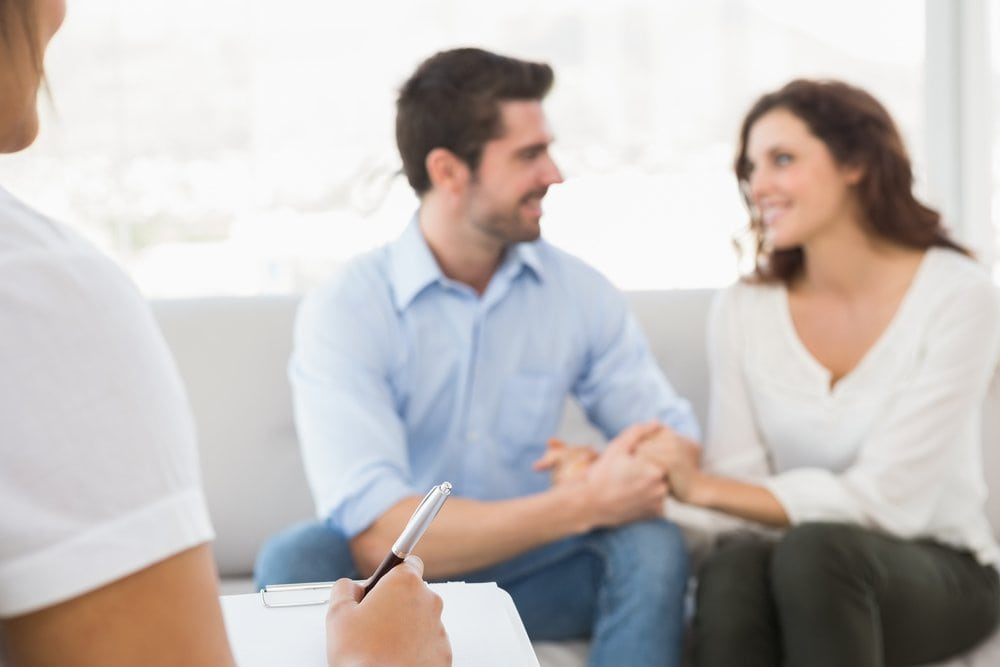 A couple is comforted and encouraged through PCRM's fertility counselling sessions