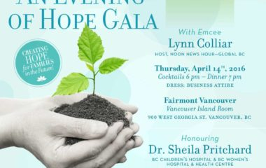 Flyer for An Evening Of Hope Gala by Fertile Future | PCRM Fertility Clinic Vancouver