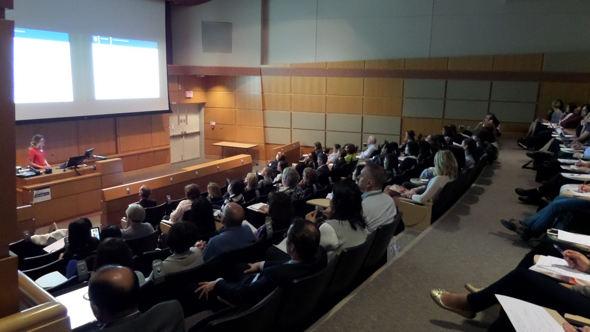 PCRM providing fertility research to a room of listeners at the 2017 Fertility Symposium | PCRM Fertility Clinic Vancouver